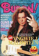 Burrn! Heavy Metal Magazine October 2002 Japan Yngwie Malmsteen Metallica