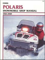 NEW CLYMER POLARIS SNOWMOBILE SHOP MANUAL 1984-1989 INDY 400 TRAIL 600 SPORT 650