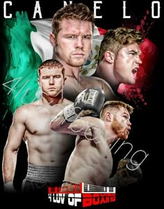 Saul Canelo Alvarez Boxing Poster New 4LUVofBOXING 11x17