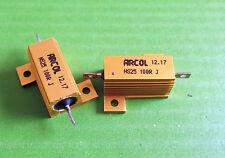 Resistencia 100 Ohms 25W potencia 100 R 25 vatios Hs HSA 5% Aluminio Arcol X 1pc Ono