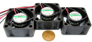 3 pcs 40mm Sunon MagLev 24V DC Cooling Fan 22 dB 6200 RPM .8W MB40202V2-000U-A99