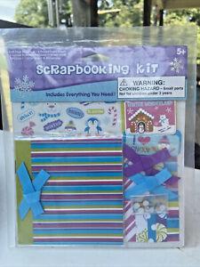 "Kid's Mini Snow Scrapbook Album Kit-4"" x 4""-New-NIP-Girls-Christmas-Crafts"