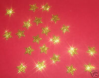 30 étoiles OR 1cm Flex thermocollant GLITTER GOLD BLING  hotfix