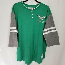 Philadelphia Eagles Mitchell & Ness NFL Men's Size 2XL Shirt 3/4 Sleeve