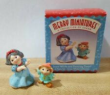 Snow White and Dancing Dwarf ~ Hallmark Merry Miniatures 1997 New in Box
