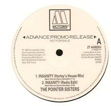"The Pointer Sisters(Promo 12"" Vinyl)Insanity-Motown-ZT 44382DJ-UK-1990-Ex/VG"