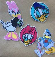 DONALD & DAISY DUCK Lot of 4 Sew / Iron on cartoon DIY Patch Applique Motif