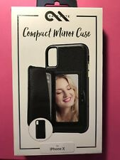 CaseMate Compact Mirror Wallet Case for iPhone X and XS - Black