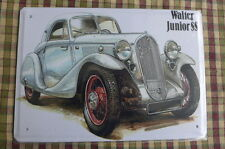 Walter Junior  Metal Old Car Sign Painted Poster Garage Home Shop Pub Wall Art *