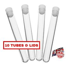 10 x plastic test tubes,150mmx16mm, test tubes with push cap, shots - 20ml