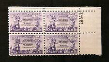 US Stamps #1015 ~ 1952 NEWSPAPER BOYS 3c Plate Block MNH