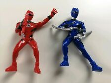 """Power Rangers Jungle Fury Red And Blue Pvc 3.5"""" Figures"""