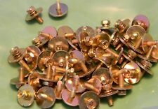 50 New Gold Zinc M4-0.7 x 9mm Phillips Hex Head SEMS Screw 16mm WIDE Washer