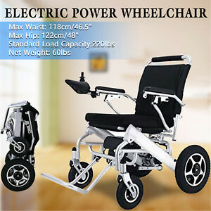 Electric Wheelchair Power Wheel chair Lightweight Mobility Aid Motorized Folding