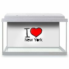 Fish Tank Background 90x45cm - I Love New York NYC America USA  #7752