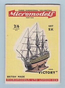 Model Kit - H.M.S. Victory (Micromodels Ltd.)
