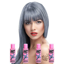 Crazy Color By Renbow Semi-Permanent Hair Dye Tint Slate Grey 4 Pack 100ml