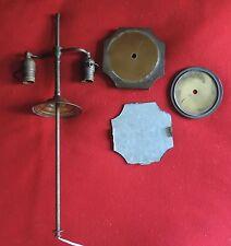 Vintage Lamp Parts Brass Base for Chinese Kangix Vase 2 Light Socket Art Deco