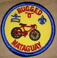 "Vintage Mataguay Rugged ""O"" Embroidered Boy Scout Patch"