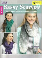 SASSY SCARVES  ~  Crochet Book  ~  NEW
