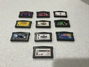 Lot Of 10 Pre-Owned Nintendo Gameboy Advance Games. Carts Only. See Description.