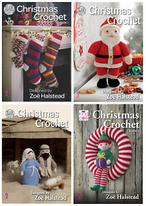 King Cole Christmas Crochet Book Festive Xmas Decorations Patterns Booklet