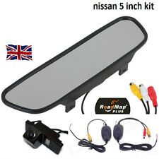 "NISSAN Pathfinder Qashqai juke xtrail 5"" mirror wireless reversing camera 057"