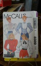 Rare Mccalls Diane Gilman 8389 misses victorian blouse front bib sz 10 NEW