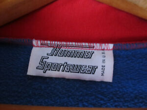 Vintage Buffalo Bills Quarter Zip Jacket 90's RARE 'Hummer Sportswear' USA Made!