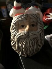 Vintage Christmas Led Fashioned Santa Claus Candle Holder