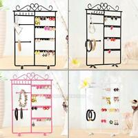 Women Jewelry Organizer Holder Display Stand Rack Wall Mount Earring Necklace