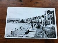 OLD POSTCARD BEACH AND PROMENADE  RHOS-ON-SEA   POSTED