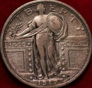 1917-D Denver Mint Silver Standing Liberty Quarter