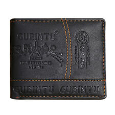 Men's Genuine Leather Bifold Wallet Coin Business Credit/ID Card Holder Purse