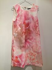 Ladies Flowery Designer Summer Dress Tommy Hilfigher Wedding Party  Size 10 Uk