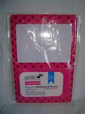 Yoobi Locker White Board Pocket Magnetic Pink Dots Dry Erase School BTS