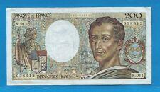 Billet N° 0209038612 200 Francs MONTESQUIEU  de 1982 K.011