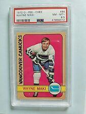 1972-73 Wayne Maki OPC O-PEE-CHEE #84 PSA 8.5 NM-MT+ Vancouver Canucks