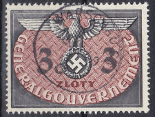 Germany DR / General Government 1940 Dienstmarke Mi. Nr. 14 3 Zloty USED