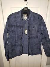 "G STAR RAW Men's Size XL ""A Crotch Camou Zip Overshirt Jacket"". BLUE"
