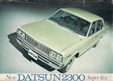 Datsun Nissan 2300 Super Six 1968-69 Export Markets Single Sheet Brochure Cedric