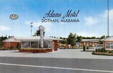 ADAMS MOTEL Dothan, AL Hwy 231 Roadside Alabama Vintage Postcard ca 1950s