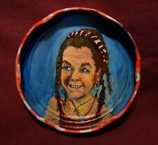 LISSA DRISCOLL Jam Jar Lid Portrait, New Orleans Outsider Folk Art PETER ORR