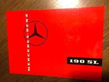 Mercedes-Benz: 190 SL, Prospekt Broschüre Literatur, booklet flyer, Original NOS