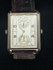 Vintage Men's Seiko Dual Time Dress Watch 7F-22-5020 Gold Tone New Battery