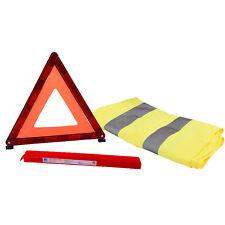 Advertencia triángulo Hi Vis visibilidad Chaleco desglose Kit Set Coche van de la UE Motoring