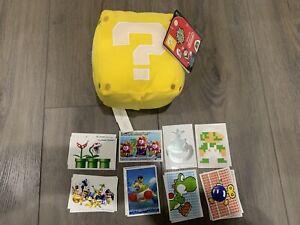 Super Mario Mystery Block 8-Inch Plush [With Sound Effects] W/ Bonus Stickers