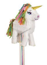 White Unicorn Pony Birthday Party Pinata Pinyata Fun Game Toys Treat Lollies Box