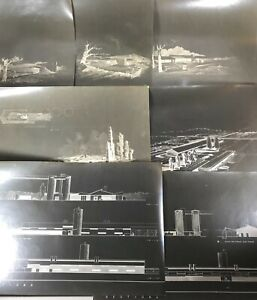 VTG Mid Century Modern Pittsburgh Architect Architectural Rendering 12 Drawings