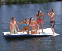 Floating Island Mat Boat Walkway Pool Ocean Lake Beach Water Raft Float Large